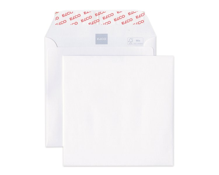 Elco square envelope white 155x155. 40958 Image