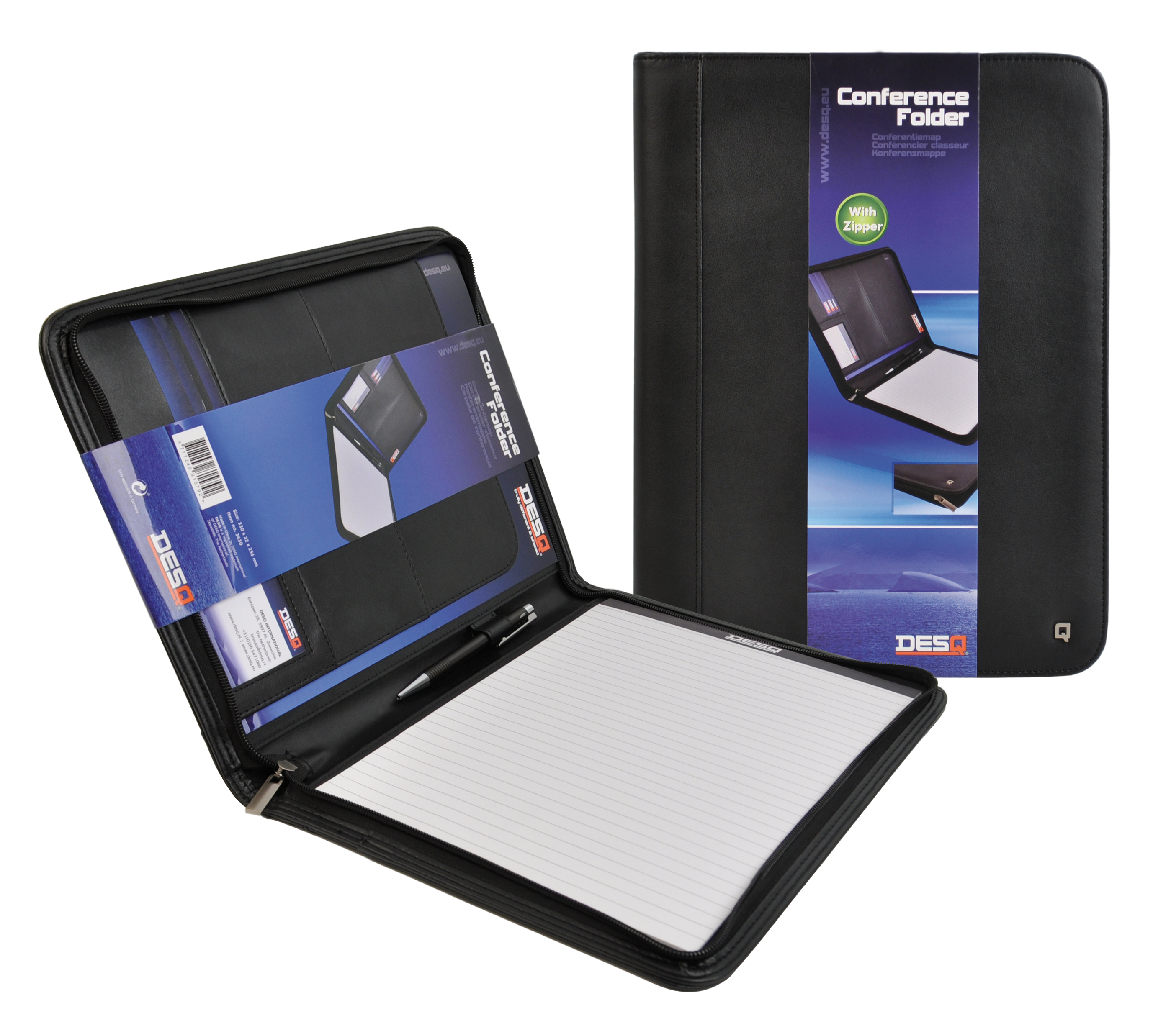 DesQ Zipper Conference Folder A4 with Notepad Image