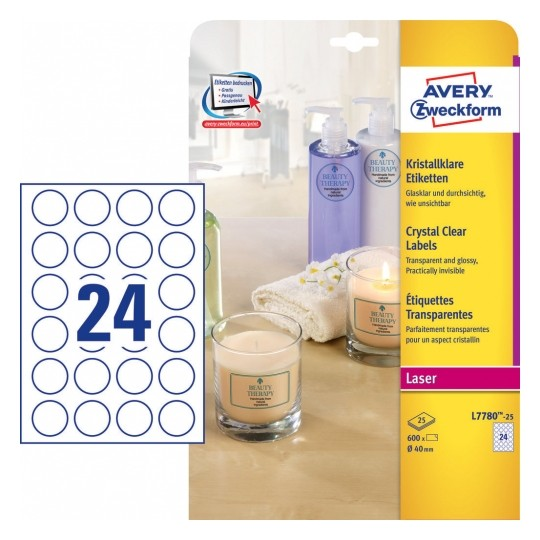 Avery Crystal Clear Labels Ø 40 mm Image