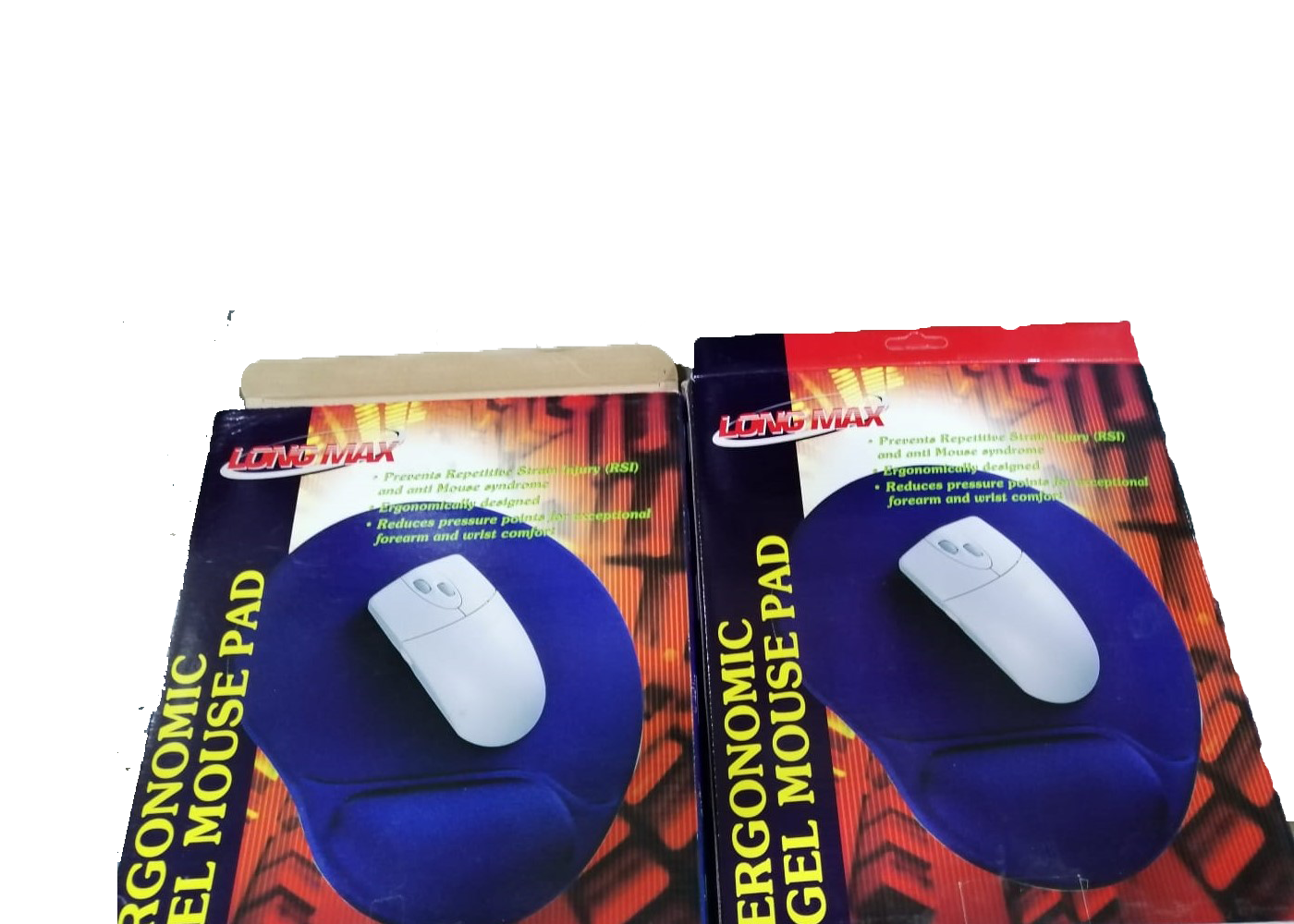 Micro Meilon Gel Mouse Pad With Wrist Support Eggplant Design Image