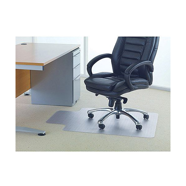 Floortex 90x120 Studded Lipped Chair mat for Carpets Image