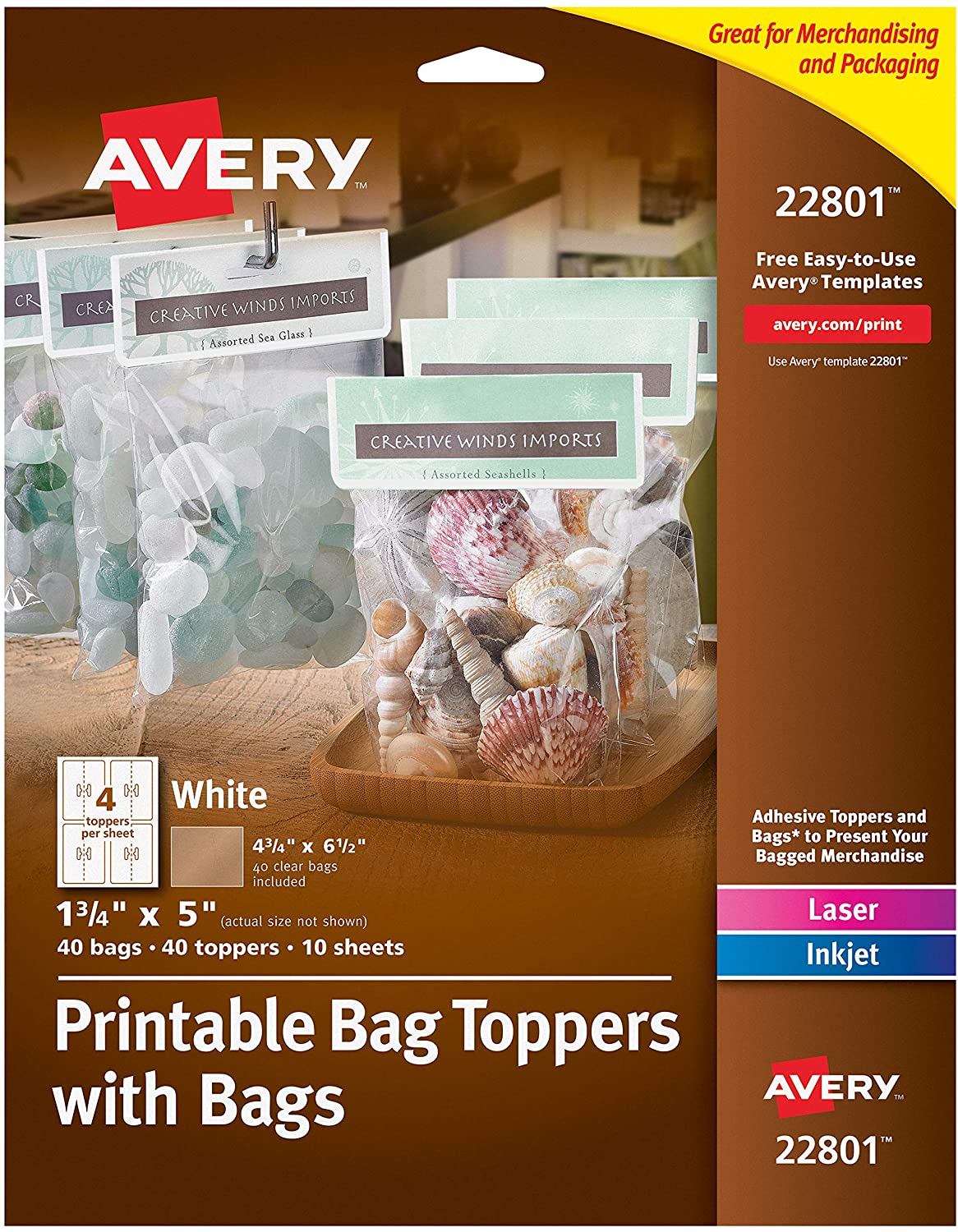 Avery® Printable Bag Toppers with Bags Image