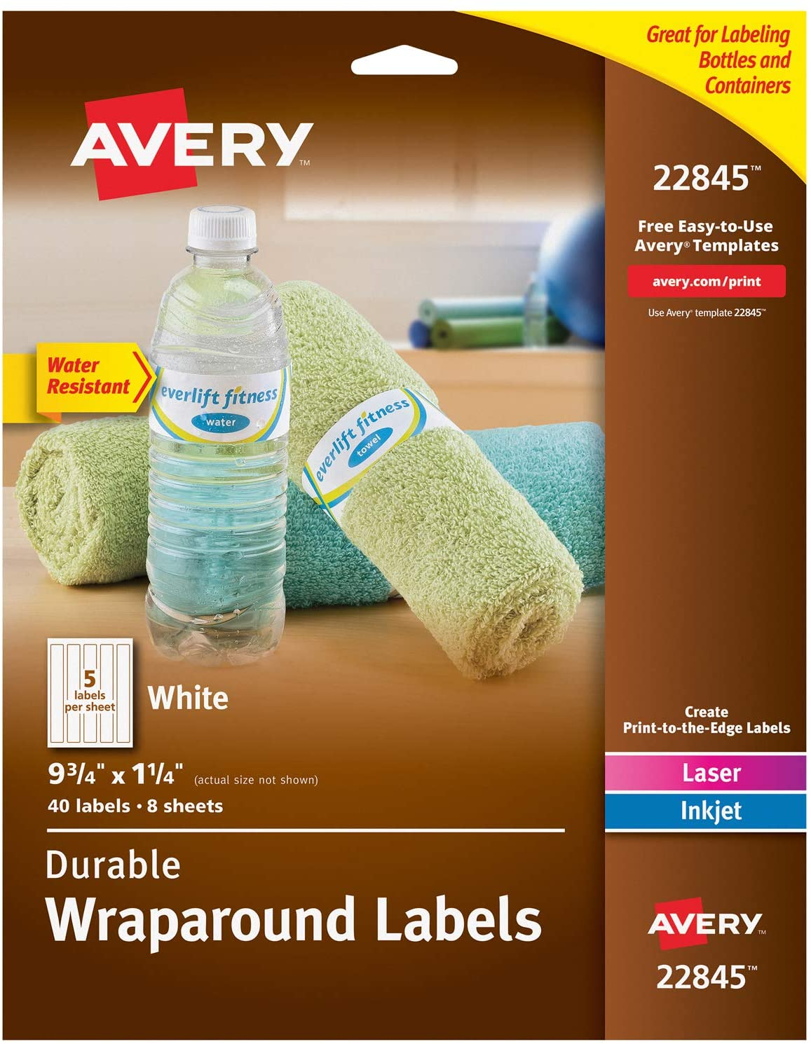 Avery® Water Resistant Wraparound Labels Sure Feed™ Image