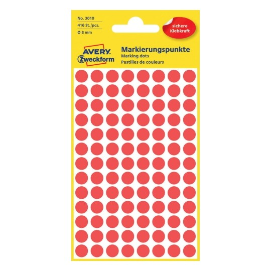 Avery Dot stickers Ø 8 mm, Red Image