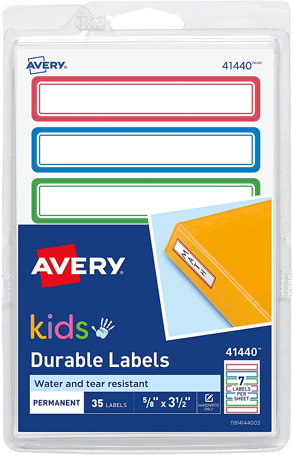 Avery® Durable Labels for Kids