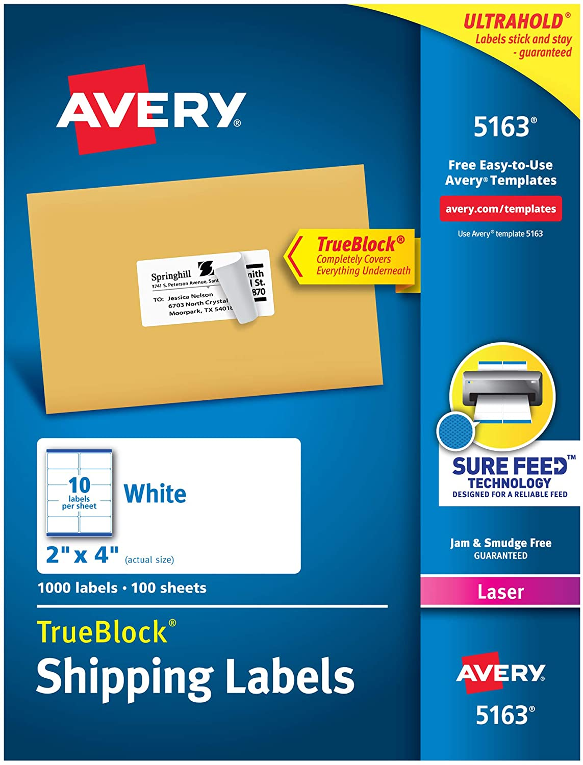 Avery® Easy Peel® Address Labels Sure Feed™ Technology Image
