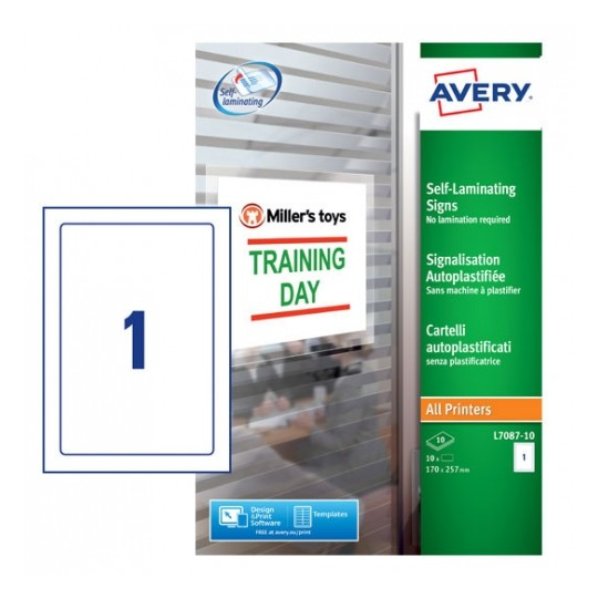 Avery Removable Self Laminating Signs Image