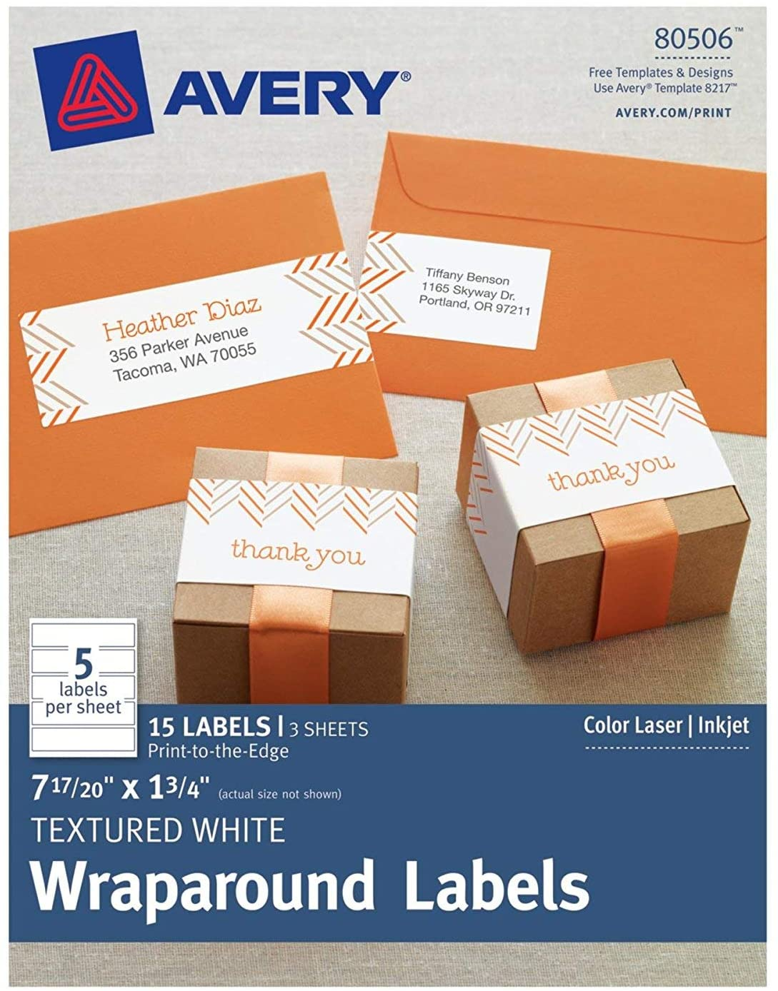 Avery® Wraparound Labels Water Resistant Image