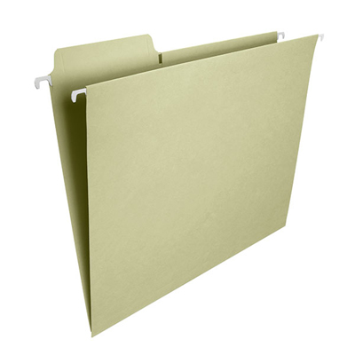 Smead FasTab® Hanging Folder 1/3 Cut Built In Tab Letter Moss Image
