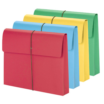 Smead Expanding Wallet 2 inch Expansion Flap and Cord Closure Assorted Colors Image