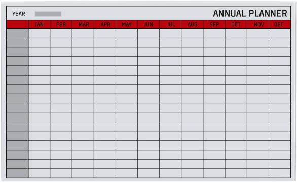 Bi-Office Magnetic Glass Planner Annual Image