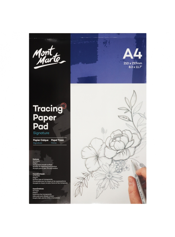 Mont Marte Signature Tracing Paper Pad A4 Image