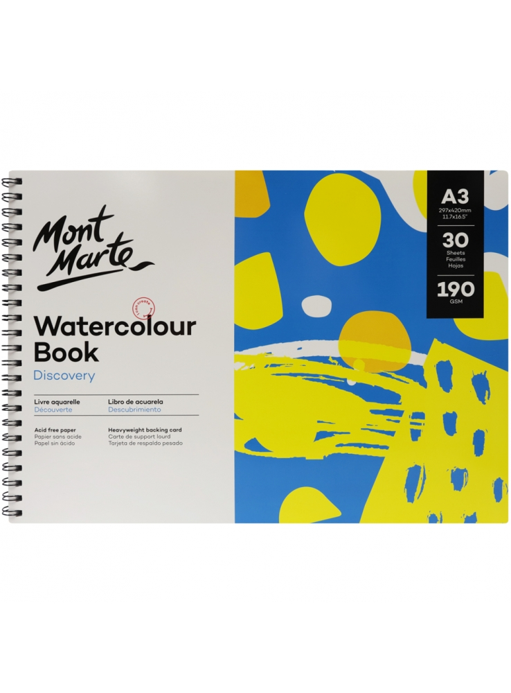 Mont Marte Discovery Water Colour Book A3 Image