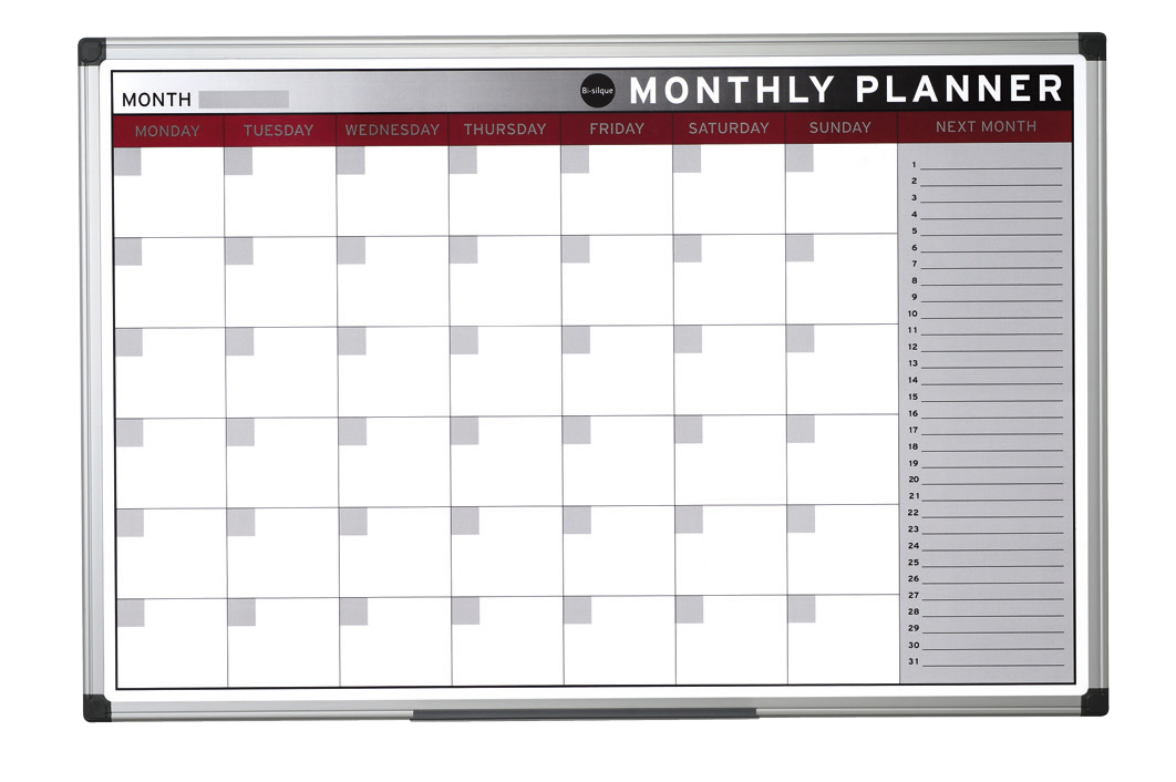 Bi-Office Magnetic Monthly Planner Image
