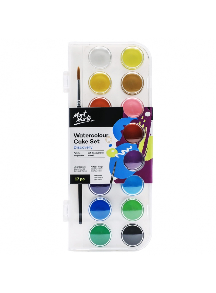 Mont Marte Discovery Water Colour Cake Set Image