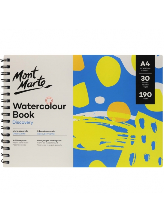 Mont Marte Discovery Water Colour Book A4 Image
