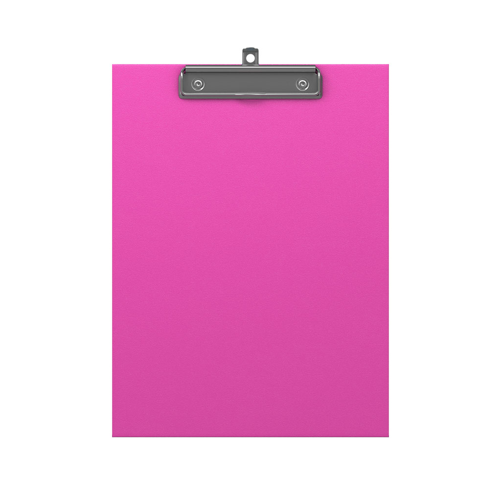 ErichKrause® A4 Clip-on Tablet Neon Pink Image
